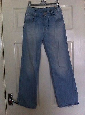 Next Loose Fit Adjustable Waist Light Blue Denim Boys Jeans Age 12 Years