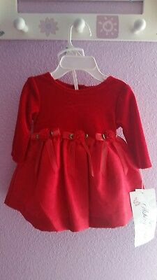 ASHLEY ANN baby Girl Christmas/Holiday /wedding party Red Dress NWT  0-3Months