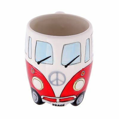 Volkswagen - Red Ceramic Shaped Coffee Mug / Cup - NEW FREE SHIPPING
