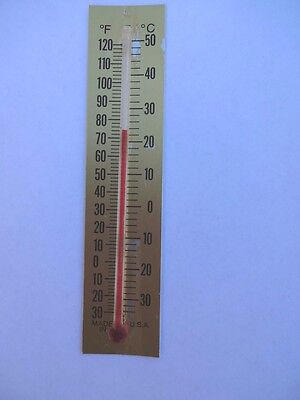 One Special 5 Inch Glass Replacement Thermometer Tube With Gold Scale