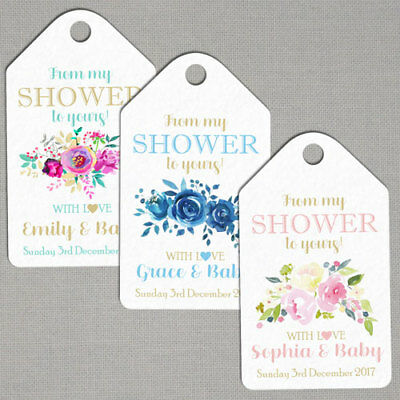 Personalised Baby Shower Christening Thank You Tags BS05