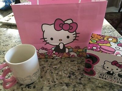 Hello Kitty Cafe Exclusive PopUp Store MUG Cup  NEW DESIGN GIFT BAG PRIORITYMAIL