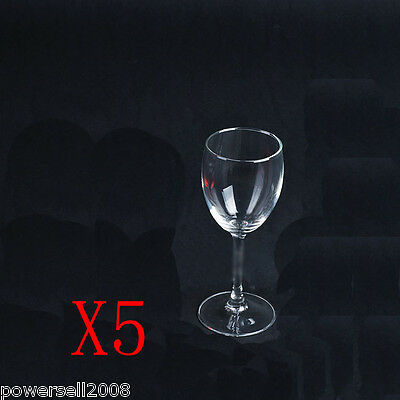 5X 255ML Classic Toughened Glass Red Wine Foreign Wine Goblet Multi-Use NN