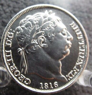 1816 Silver Sixpence