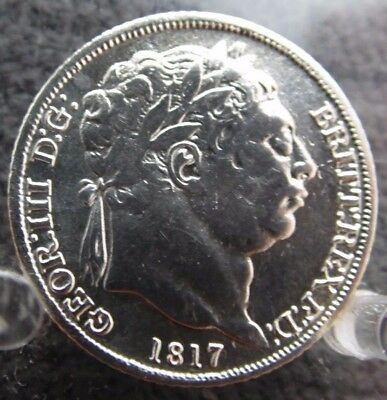 1817 Silver Sixpence