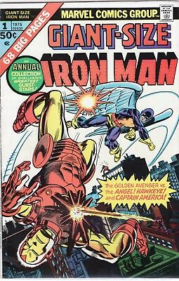 Giant-Size Iron Man #1 (1975) Iron Man! Hawkeye! Captain America! X-Men!