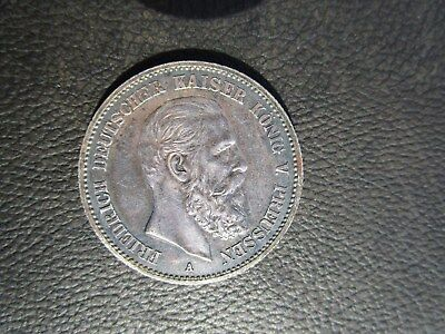 1888 A German States Prussia 2 Marks, Germany