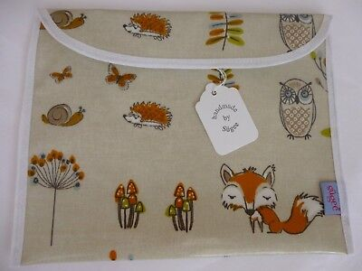 Baby Health Red Record Book Holder 'Woodland Fox' Oilcloth - BNWT