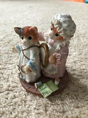 "enesco calico kittens ""you've earned your wings"""