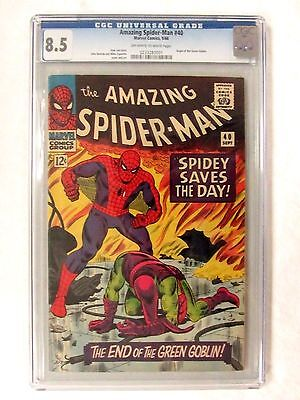 Marvel Comics Amazing Spider-Man #40 (1966) Origin of Green Goblin CGC 8.5 BP621