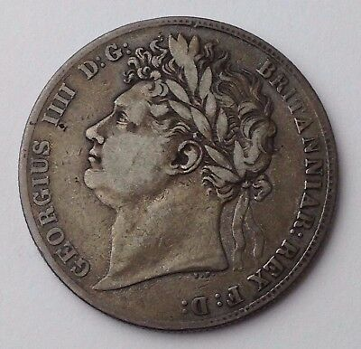 Dated : 1823 - Silver Coin - Half Crown - King George IIII - Great Britain