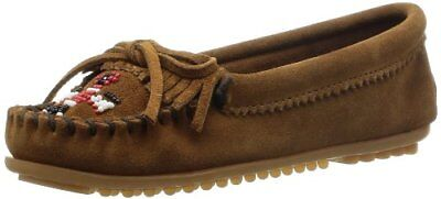 (TG. 42 EU) Marrone (Dusty Brown) Minnetonka - Thunderbird Ii, Mocassino da donn