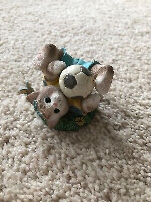 "enesco calico kittens ""friends are a goal worth saving"""
