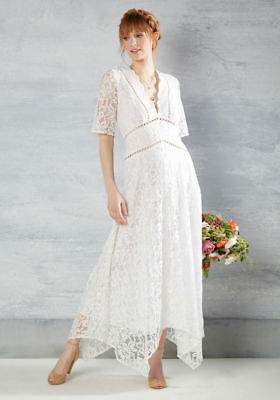 Modcloth Flowing to the Chapel 2X White lace A-line wedding dress plus size RARE