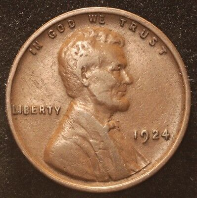 Lincoln Wheat Cent - 1924 P *** Free Shipping ***