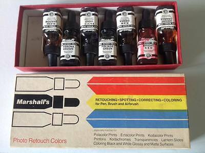 Marshall's Vintage Photo Retouch Colors set with 7 bottles