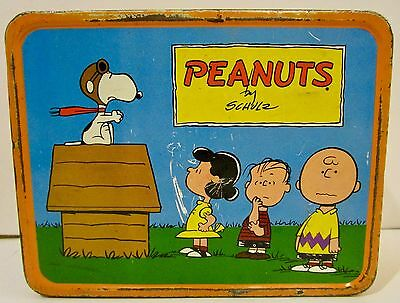 King Seeley PEANUTS Metal Lunchbox NO THERMOS Vintage 1970s  AS IS  AS FOUND