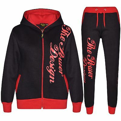 Kids Tracksuit Designer's Boys Girls The Power Design Top & Bottom Jogging Suit