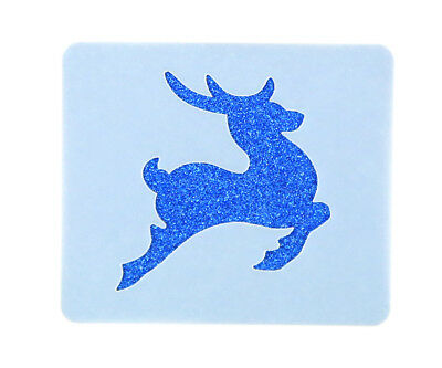 Prancer Reindeer Face Painting Stencil 6cm x 7cm Washable Reusable