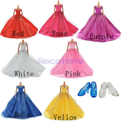 FairyTale Wedding Princess Evening Party Dress Clothes Ball Gown for Barbie Doll