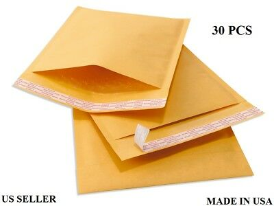 NEW Kraft Bubble Padded Shipping Mailers Envelopes Bags 7x9 (30 PCS) US SELLER