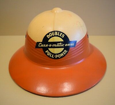 Vintage 1950's Case Tractor Advertising Pith Helmet Safari Hat Near Mint NR!