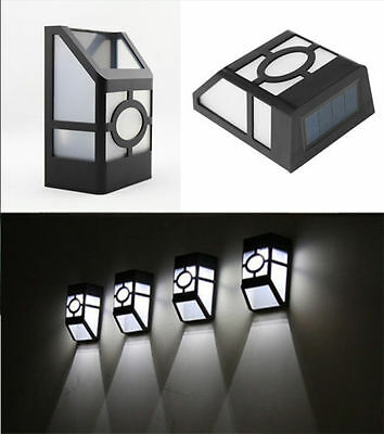 Solar Power Door Fence Wall Lights Led Outdoor Garden Path Lighting Landscape