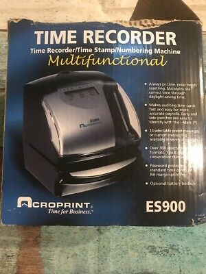 Acroprint ES900 Digital Automatic 3-in-1 Time Recorder Stamp Machine
