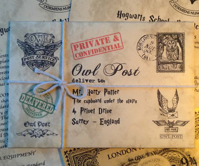 Hogwarts Acceptance Letter - Ultimate Christmas GIFT with a FREE Gold Ticket!