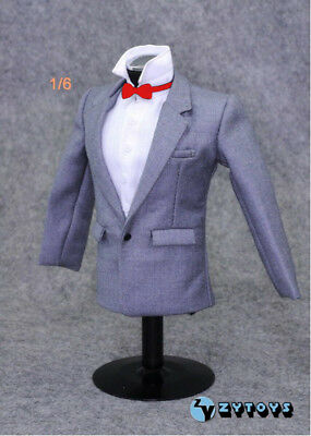"""1:6 Scale Model Zy-toys Gray Man Suit Set Clothes for 12"""" Hot Toys Bodies"""