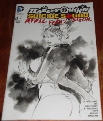 Harley Quinn And The Suicide Squad April Fool's Special (2016.dc) Sketch Art