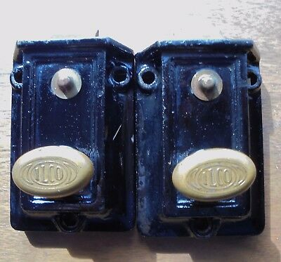 2 Pcs VINTAGE ILCO LOCK CO. DOOR LOCK/NIGHT LATCH MADE IN THE U.S.A