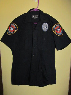 Bedrock Protection Agency Private Security Uniform Shirt Size Med. W/patches