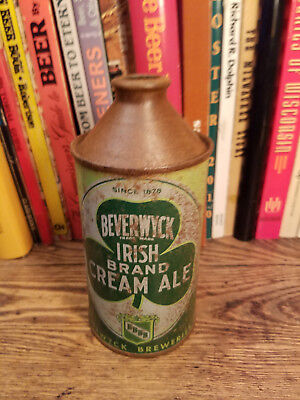 Beverwyck Irish Brand Cream ALE 12oz Cone Top Beer Can IRTP