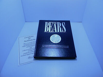 Chicago Bears 75-Year Celebration Mike Carrier Autograph Hardcover Great Gift!