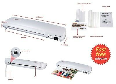 "Document Photo 9"" Scotch Thermal Laminator 2 Roller System Laminating Machine"