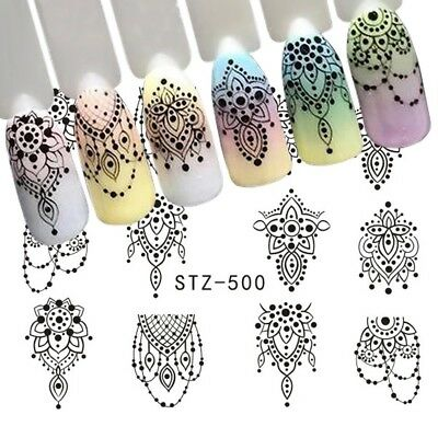 Nail Art Retro Charming Decoration Stickers nails Decal black Jewelry STZ-500