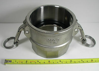 """3LX49 Cam and Groove Coupler Female 3"""" 316 SS"""