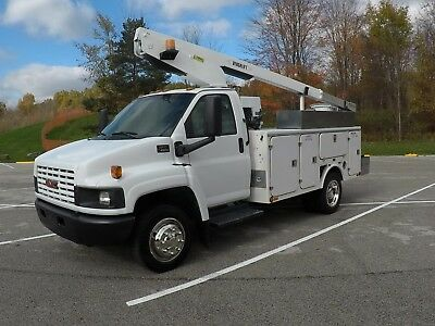 2004 GMC C4500 35' Bucket Truck with Generator and Air Compressor