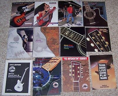 1993 Guitar Catalogs Fender Washburn Charvel Martin Ovation Guild Yamaha more