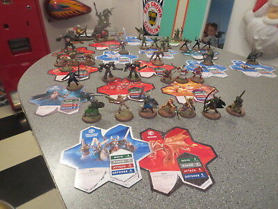 Heroscape Lot Of Figures And Roll Cards And Wall