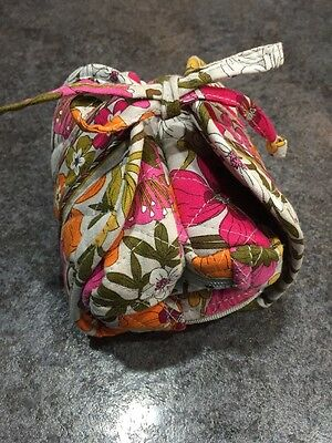 Vera Bradley All Wrapped Up  Roll Up Travel Jewelry Pouch/Bag Tea Garden retired