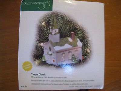 Department 56 New England Village Lighted Ornament ~ Steeple Church 98757
