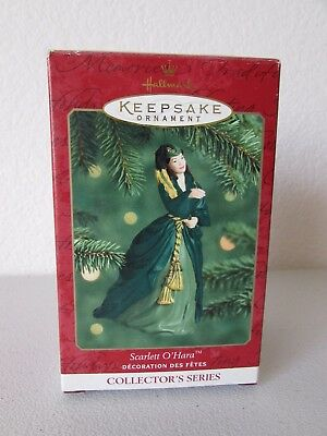 Hallmark Gone With The Wind Scarlett O'Hara Green Dress Christmas Ornament 2000