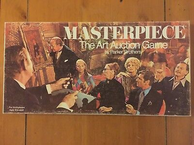 Vintage MASTERPIECE Art Auction 1970 Board Game by Parker Brothers 100% COMPLETE