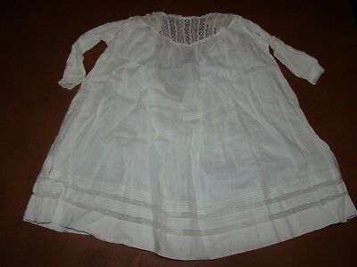 Vintage Antique Child's Baby Nighty Night Gown - Cotton & Lace