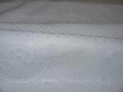 "2 Antique Massive European White Damask Linen Napkins Lapkins 35"" x 29"" Gorgeous"