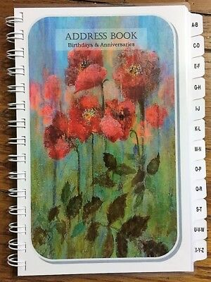 LG PRINT Address Book A-Z Tabs Birthday Anniversary & Family Tree Personalized