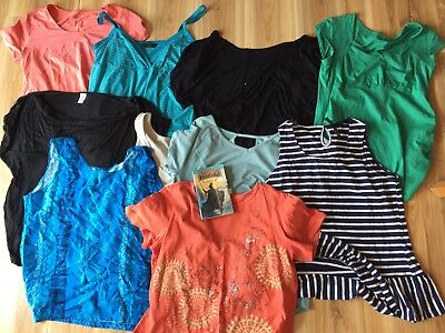 Bulk Lot Of Items - Tops Shirts Blouse Sizes 16 18 -Mixed Ladies Clothing + Gift