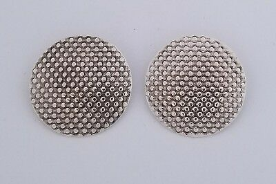 Textured Clip Earrings by Steve Yellowhorse Sterling silver